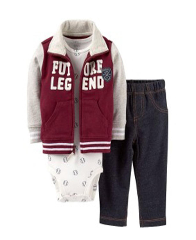 01f3819e77c8 Carter 3 Pc Micro Future Legend Baby Bodysuit Baseball Jeans Set ...