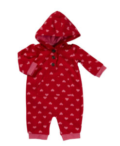 Carter's Baby Girls' Hooded Microfleece Jumpsuit