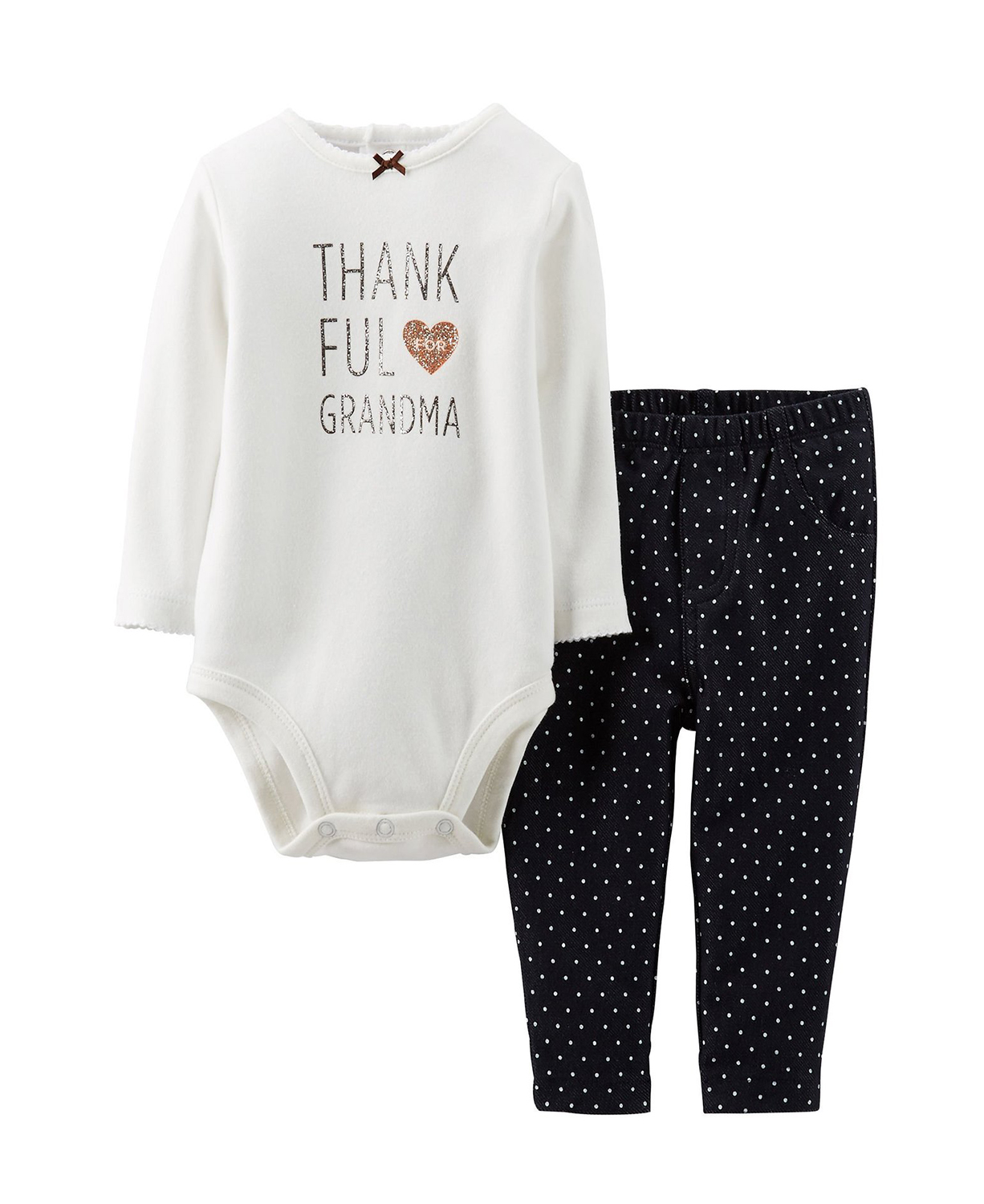 Cute Carters Baby Girls Thanksgiving Bodysuit & Knit Denim Baby ...