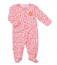 Carters Floral Snap Up Sleep & Play PINK