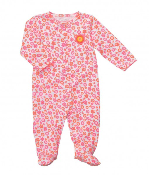 Carters floral snap up sleep pink baby sleepers baby clothes baby