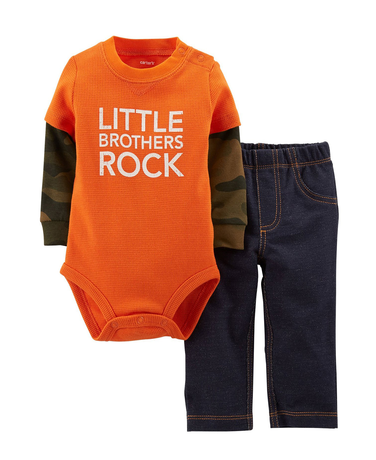 Carter 39 s baby bodysuits cute comfy brothers rock set for Big brother shirts for toddlers carters