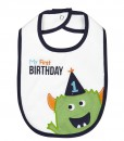 "Carter's ""My First BIRTHDAY"" Green Monster Baby teething feeding1st Birthday Bib"