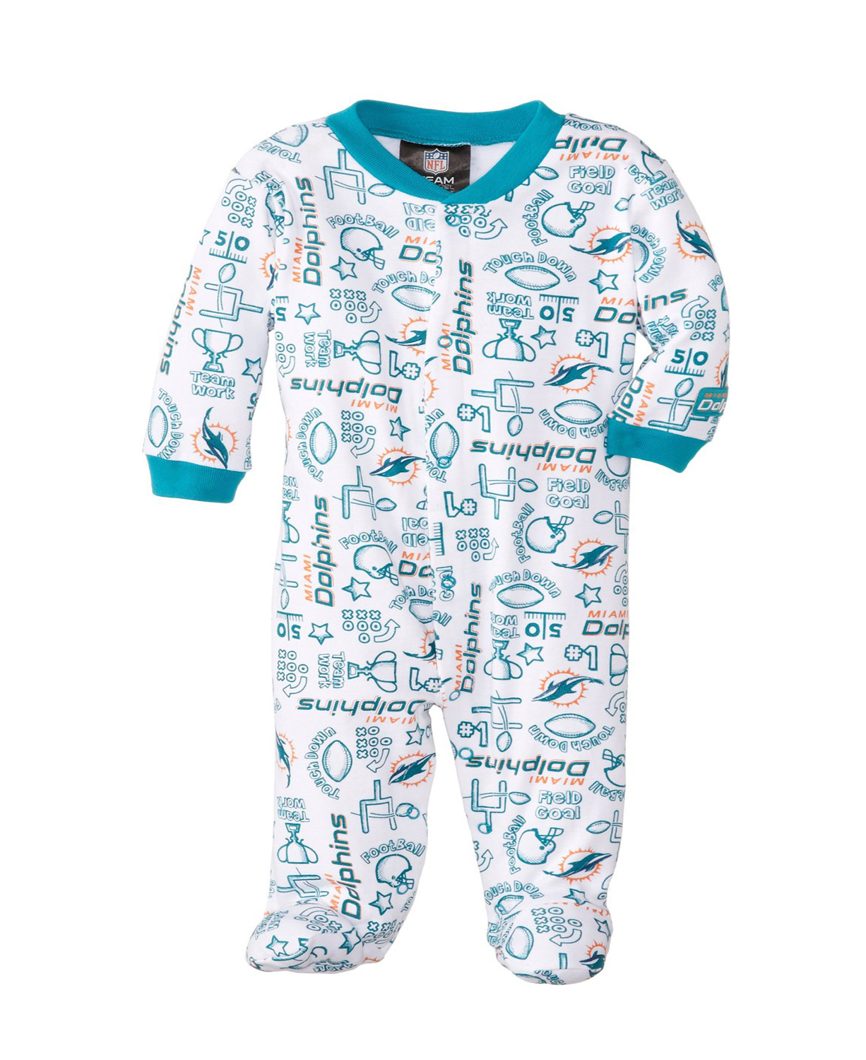 af2e481a8 NFL Miami Dolphins Boy s Sleep N Play Sleepers · Home   Shop   Baby ...