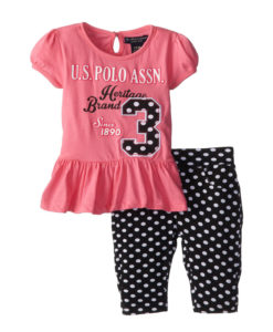 Polo Black And Pink Set
