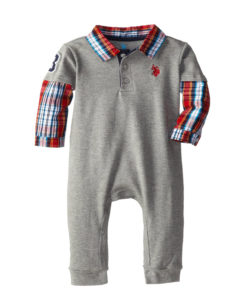 U.S. Polo Assn. Baby-Boys Infant Hangdown Onesie Romper