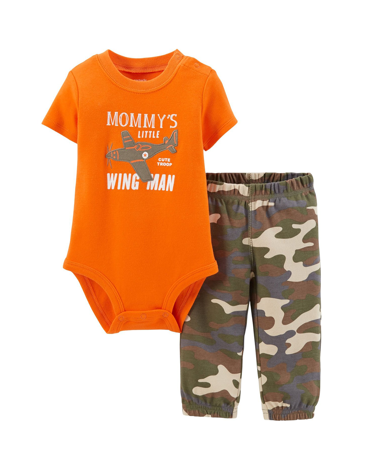 Carter's Baby Boy Bodysuit & Sweat Pants Mummys Wing Little Man ...
