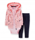 Carters Girl Whale 3-Piece Cardigan Cute Baby Clothes Set