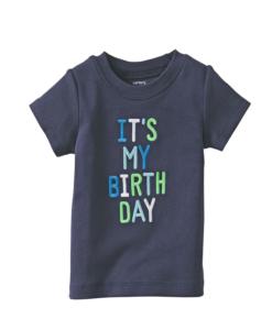 Cute Carter's Baby Boys' Birthday T - Shirt (Baby Tee)