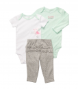 Cute Carter's Baby Girls' 3 Pc Turn Me Around Baby Ruffle Outfits Set