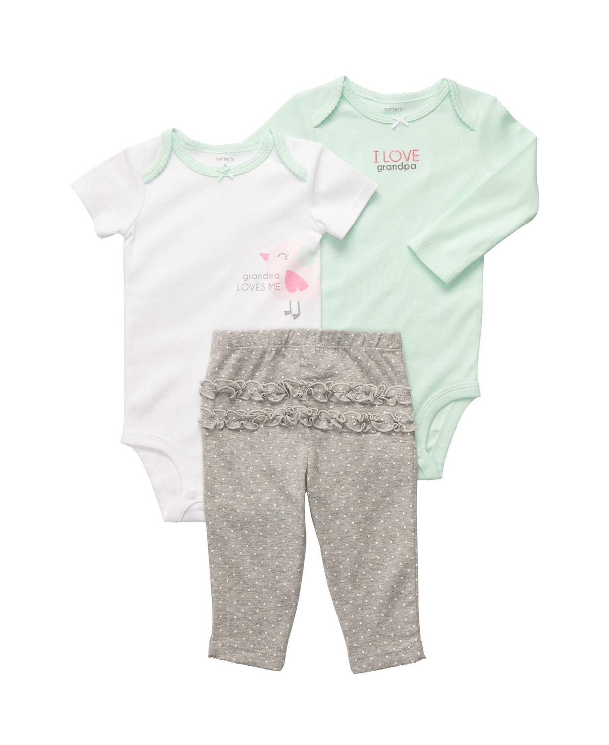 Cute Carter Baby Girls Turn Around Ruffle