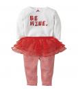 Cute Carters Baby Girls Bodysuit Valentine's Day Tutu Legging Set