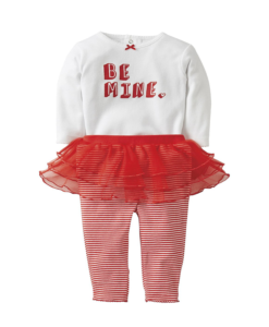Cute Carters Baby Girls Bodysuit Valentine's Day Tutu Legging Set