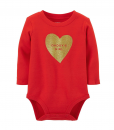 Cute Carters Baby Girls Daddy's Girl Heart Red Baby Bodysuit
