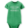 Cute Carter's F14 Slogan Baby Bodysuit Everything Better Grandmas 24 Months