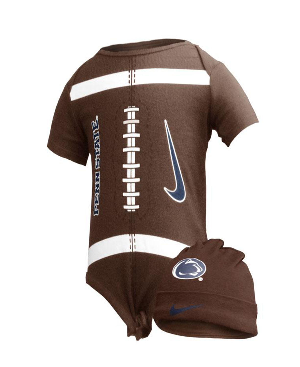 Cute Penn State Baby Bodysuit And Hat 6 To 9 Months Brown Baby