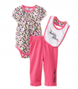 Pink Calvin Klein Printed Baby Girl Bodysuit with Pull On Pants