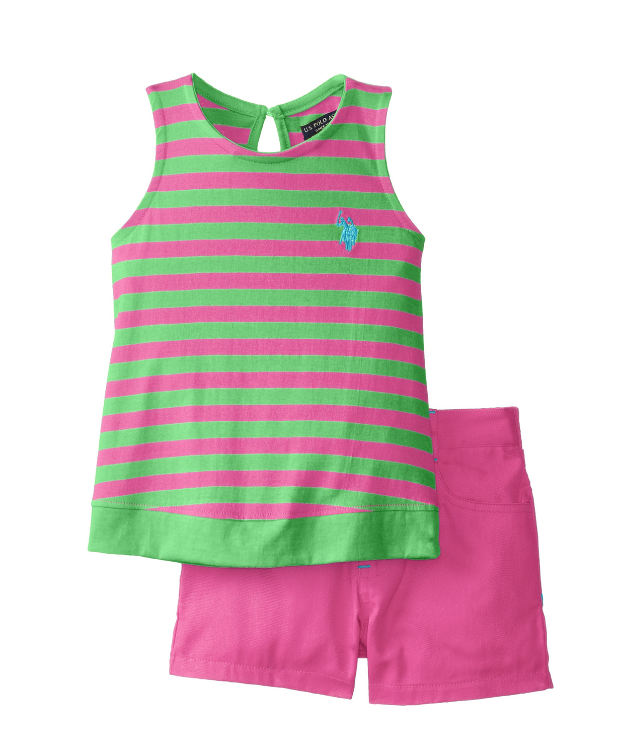U.S. POLO ASSN. Little Girls' Striped Toddler Girl Clothes | Baby ...
