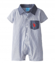 Cute U.S. Polo Assn. Baby-Boys Striped Chambray Baby Romper