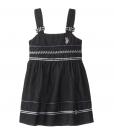 Stylish U.S. POLO ASSN. Little Girls' Drop Waist Denim Tank Toddler Dress