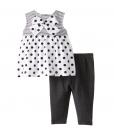 BON BEBE Baby-Girls Newborn Polka Dot Sleeveless Cute Baby Outfit 2 Piece
