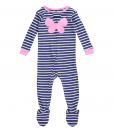 Carter's Baby Pajamas Girls' Striped Footie (Baby) - Heart