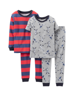 Comfortable Carter's Little Boys' 4 Piece PJ Set (Toddler Pjs) - Baseball