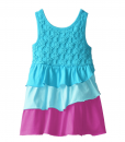 Kidtopia Baby-Girls Infant Tiered with Daisy Eyelet Yoke Knit Baby Girl Party Dress