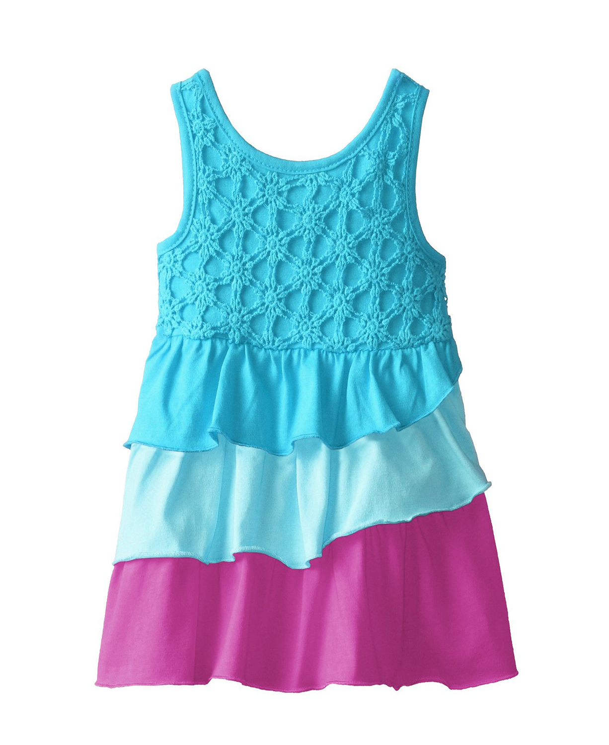 Kidtopia Baby-Girls Infant Tiered with Daisy Eyelet Yoke Knit Baby ...