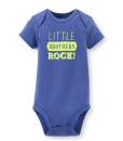 Stylish Carters Short Sleeve Cute Baby Bodysuit Little Brothers Rock 6M
