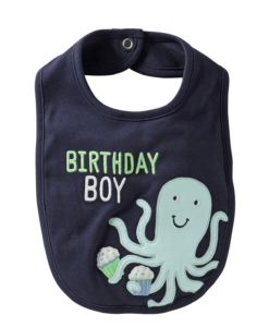 Carter's Baby Boys' 'Octopus' Baby Bibs - Blue - One Size