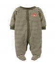 Carter's Baby Boys' Striped Terry Footie Baby Pajamas