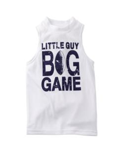Carter's Little Boys' White Little Guy Big Game Toddler Tank Top- 4t