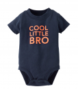 Cute Carters Boys Baby Cool Little Bro Baby Bodysuit 12 Months Olive Green