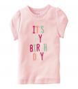 Cute Pink Carter's Baby Girls' Birthday Tee (Baby Girl)