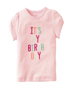 Cute Pink Carter's Baby Girls' Birthday Tee (Baby Girl)