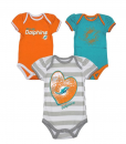 NFL Baby Dolphins 3 Pcs Bodysuit Set [Miami Dolphins Baby Clothes]