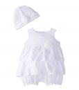 Quiltex Baby Girls Infant Fancy Stylish Cute Bodysuit [Baby Baptism Clothes]