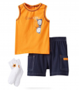 Calvin Klein Baby Boy 3 Piece Set with Shorts Tank Top and Socks [Calvin Klein Baby Boy Clothes]