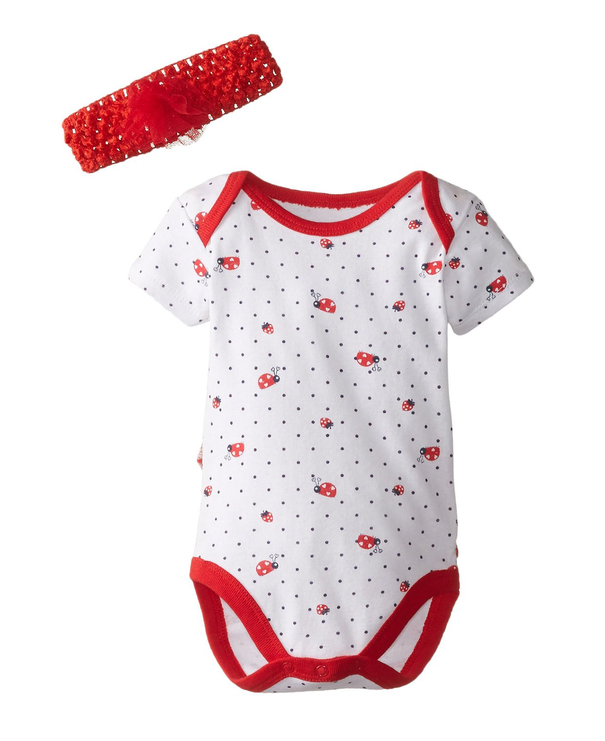 83cdacd7ced1 Cute Vitamins Baby Baby-Girls Newborn Ladybug Print Bodysuit with ...