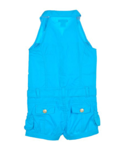 US Polo Assn Toddler Girls S/S Surf Blue Rompe - Toddler Romper