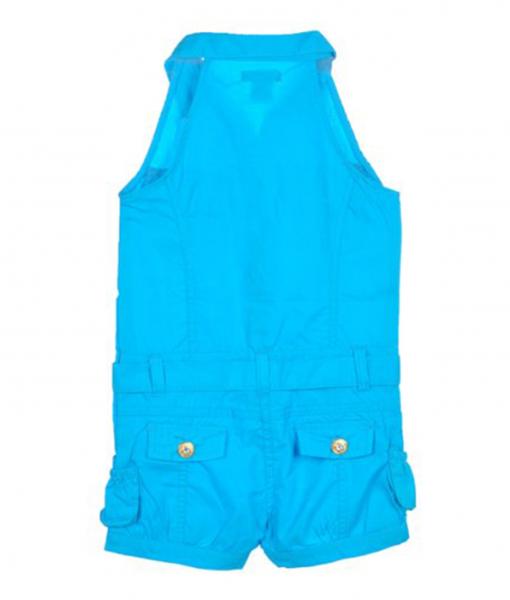 US Polo Assn Toddler Girls S/S Surf Blue Rompe - Toddler Romper