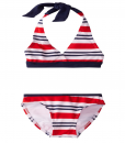 U.S. Polo Association Little Girls' Halter Top Bikini - Toddler Swimsuits