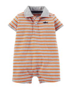 Cute Carter's Baby Boys Jersey Striped Stripe Romper - Baby Romper