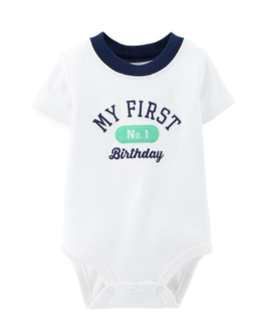Cute Carter's Baby Boys' Birthday Bodysuit (Baby) - Baby Boy First Birthday Outfit.