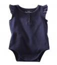 Cute OshKosh B'gosh Baby Girls' Rib Knit Bodysuit - Navy Cute Baby Bodysuit
