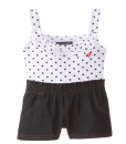 Cute U.S. Polo Assn. Baby Girls' Polka Dot Print Jersey Top and Denim Toddler Jumper