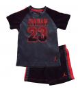 New Jordan Boys Cute 2 Pieces Black Grey and Orange Pants Set - Toddler Jordan Outfits