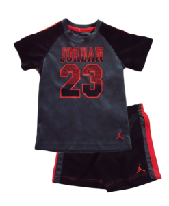 New Jordan Boys Cute 2 Pieces Black Grey and Orange Pants Set - Toddler Jordan Outfits
