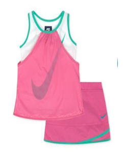 Stylish Nike Toddler Girls 2piece Mesh Top & Scooter Skirt Outfit Set[Cute Toddler Outfits]]